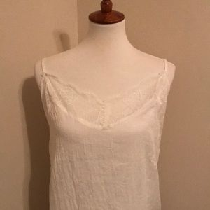 Tops - White lace cami
